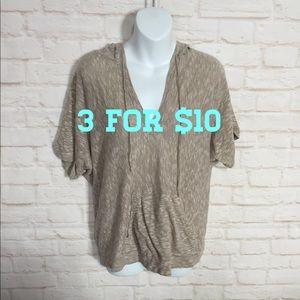 New York & Company short sleeve hoodie Large